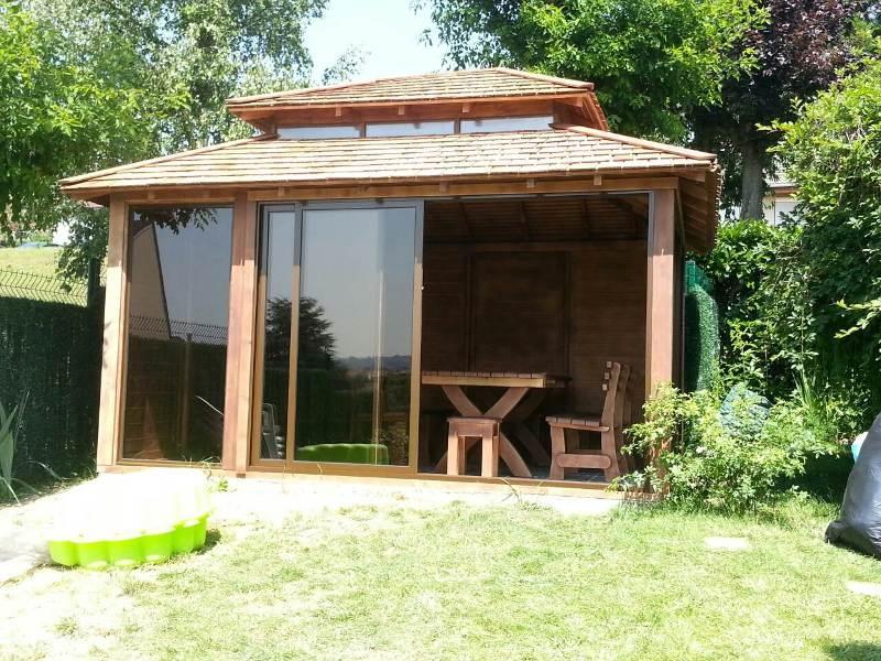 luxe paviljoen van duurzame kwaliteit