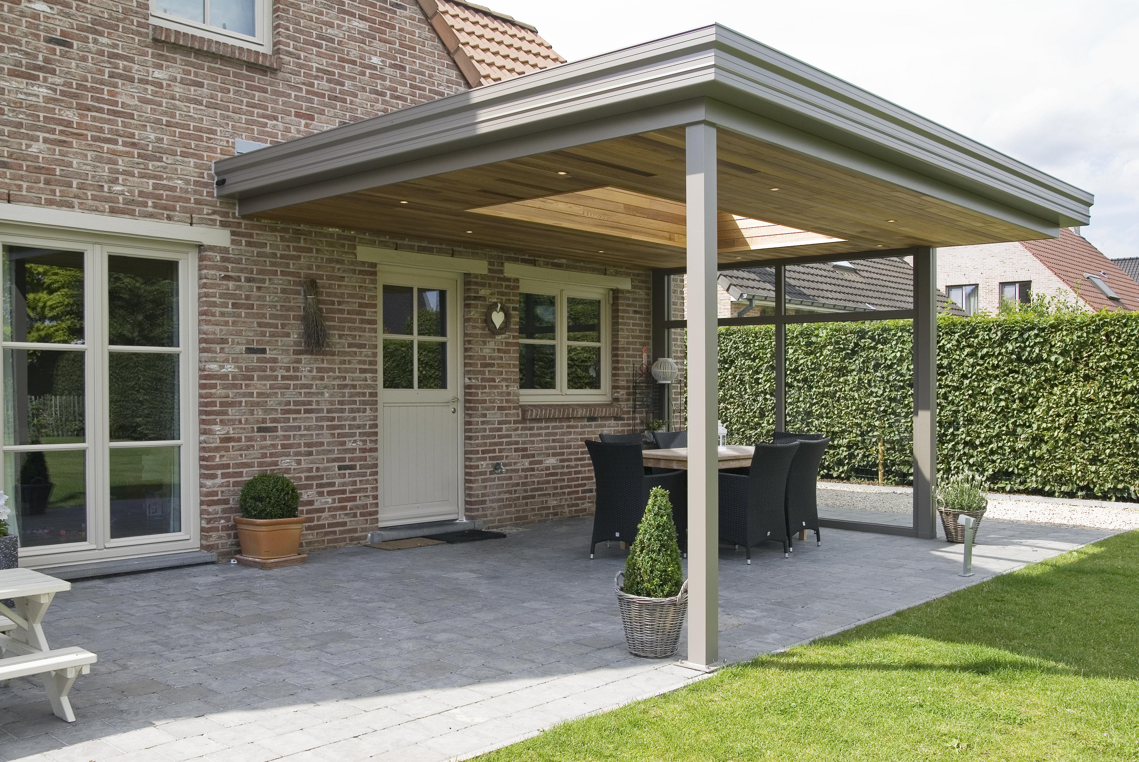 Voorkeur Luxe exclusieve veranda/terrasoverkapping op maat geproduceerd @GB07